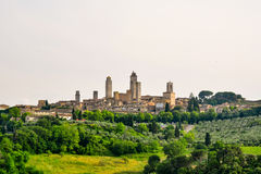 View of the ancient town of San Gimignano in Tuscany. Italy royalty free stock image
