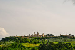 View of the ancient town of San Gimignano. In Tuscany, Italy stock photos