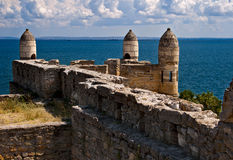 View on ancient turkish fortress. Stock Images