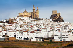 View of  andalusian town.  Olvera,   province of Cadiz Stock Images