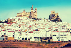 View of  andalusian town.  Olvera,   province of Cadiz Royalty Free Stock Image