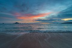 View of the Andaman Sea in the evening. Before darkness royalty free stock images