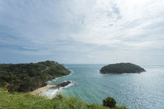 View of the Andaman Sea  laempromthep phuket from the viewing po Royalty Free Stock Photo