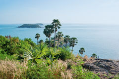 View of the Andaman Sea from the viewing point, Phuket Royalty Free Stock Images