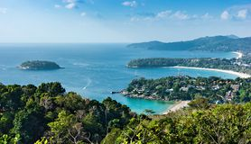 View of the Andaman Sea from the viewing point, Phuket. View from viewing point, Phuket , South of Thailand Stock Image