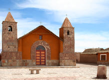 View of an andean church Royalty Free Stock Image