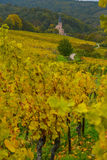View of Andlau village and church in autumn, Alsace, France Royalty Free Stock Photography