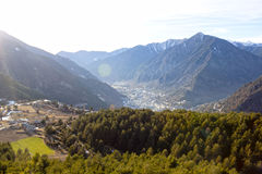 View of Andorra from the high Royalty Free Stock Photos