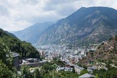 View of the Andorra la Vella, Andorra Stock Images