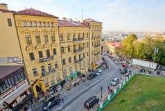 View of Andriyivskyy Descent in Kiev Stock Photo
