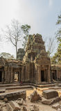 View of Angkor, Siem Riep, Cambodia. Sunshine, View of temple in Angkor area, Siem Riep, Cambodia. The lake in front of the Angkor Wat where tourist commonly Royalty Free Stock Image