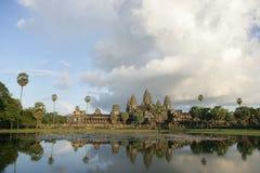 View of Angkor Wat. View of ancient Angkor Wat in Cambodia Royalty Free Stock Images