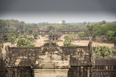 View from Angkor Wat central towers Stock Image