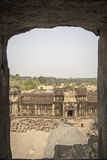 View from Angkor Wat central towers Royalty Free Stock Photo