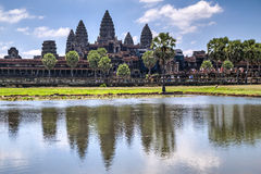 View of Angkor Wat during the  day Stock Photography