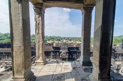 View from the Angkor Wat Tower Stock Images