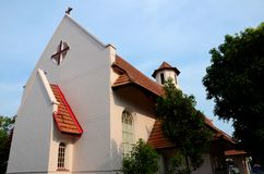 A view of the Anglican St Hilda's Church in Katong Singapore. Singapore - July 13, 2015: A view of the historic Anglican St Hilda's church at Ceylon Road in Joo royalty free stock images
