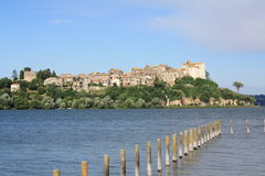 View of Anguillara (Rome, Italy) Stock Photography