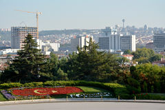 View on Ankara from the Ataturk Mausoleum Stock Photography