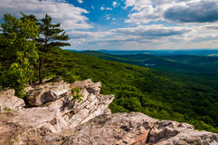 View from Annapolis Rocks, along the Appalachian Train on South Mountain, MD Stock Photography