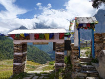 View of Annapurna from Ghyaru village Stock Images