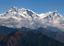 View of Annapurna Himal from Jaljala pass - Nepal Stock Photo