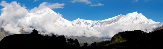 View from annapurna himal to dhaulagiri himal Royalty Free Stock Image