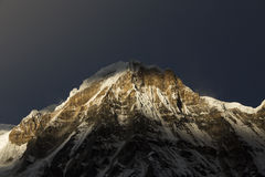 View of Annapurna I from Annapurna Base Camp Himalaya Mountains Royalty Free Stock Photography