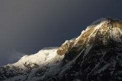 View of Annapurna I from Annapurna Base Camp Himalaya Mountains Royalty Free Stock Image