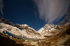 View of Annapurna I from Annapurna Base Camp Himalaya Mountains Stock Image