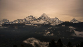 View of Annapurna mountain range ,Nepal Royalty Free Stock Images