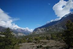 View of Annapurna, Nepal Royalty Free Stock Photo