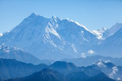 View of Annapurna. West face of Annapurna I and Annapurna South from Jaljala La, Annapurna Himal, Nepal Royalty Free Stock Images