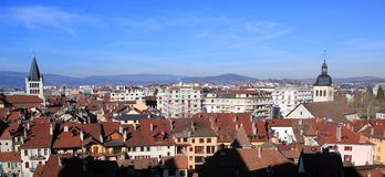 Annecy city panorama, France Stock Images