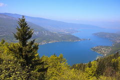View of the Annecy lake from Col du Forclaz Royalty Free Stock Photos