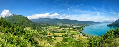 View of Annecy lake in french Alps Royalty Free Stock Photo