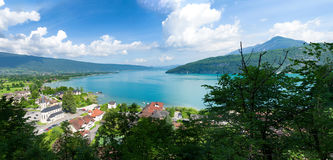 View of the Annecy lake Royalty Free Stock Images
