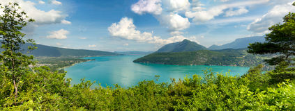 View of the Annecy lake in the french Alps Royalty Free Stock Image