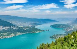 View of the Annecy lake in the french Alps Stock Images