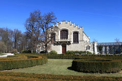 View of annexe castle at Hluboka nad Vltavou town. Czech republic Royalty Free Stock Images