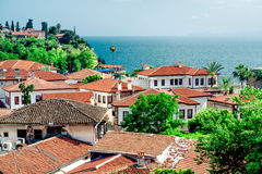 View of Antalya city. Antalya is biggest international sea resort in Turkey Royalty Free Stock Images