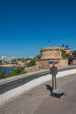 View of Antalya, Mediterranean sea and sightseeing telescope, Tu Stock Photos