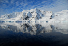 View of antarctic peninsula. Antarctic peninsula over the ocean Royalty Free Stock Image