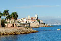 View of Antibes (France,french. A very nice view of Antibes (France,french riviera Royalty Free Stock Image
