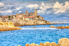 View of Antibes Stock Photography