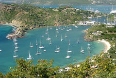 View of Antigua. View of boats and water in Antigua Stock Photo