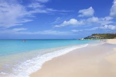 Darkwood beach in Antigua, Caribbean. View of Antigua beach in Antigua, Caribbean royalty free stock photo
