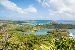 View of Antigua Coast Royalty Free Stock Photography