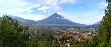 View Antigua Guatemala and the volcano Stock Image