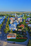 View of Antipas's church and Saint Lazar's church from Belltower of Eufrosinia Suzdalskaya in Suzdal, Russia Stock Image